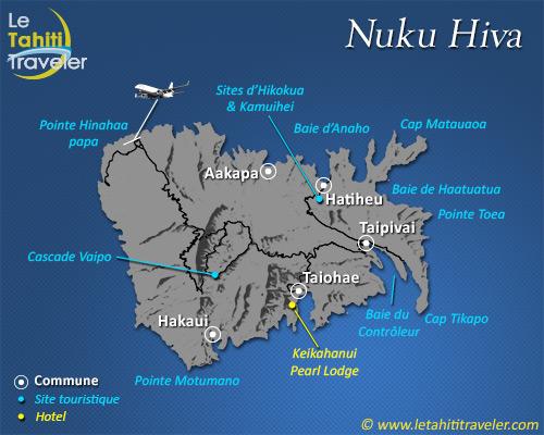 Carte de Nuku Hiva