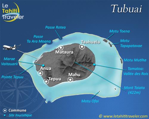 Carte de Tubuai