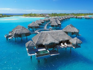 Overwater bungalow with pool at the Four Seasons