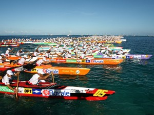 Start of the race © Tahiti Tourisme - G.Boissy