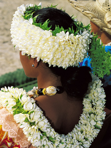 Flower ornament © Tahiti Tourisme - P.Bacchet