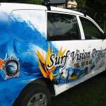 Surf school minivan