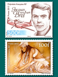 Stamps issued in French Polynesia