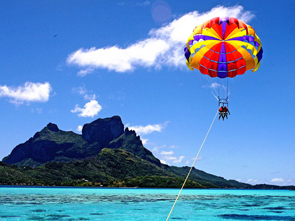 Parasailing in Bora Bora… - The Tahiti Traveler