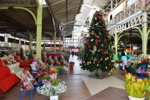 Christmas festivities in the market of Papeete