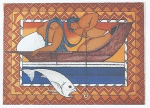 Hiro, the God fishing made by Bobby Holcomb