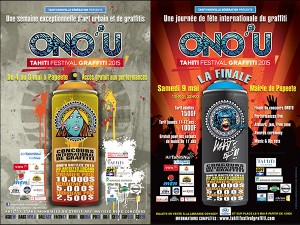 Poster of the Graffiti festial in Tahiti