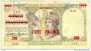 Stamped Piastre note