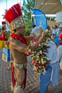 Polynesian welcome during the TMS