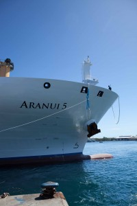 Aranui 5 cruise ship bow